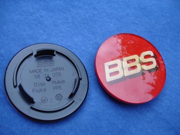 BBS Emblem Rot/Gold 70mm 3D 56.24.073R Nabenkappe, Symbolscheibe
