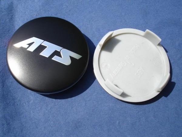 ATS Nabenkappe N40 schwarz mit Chrom Schrift