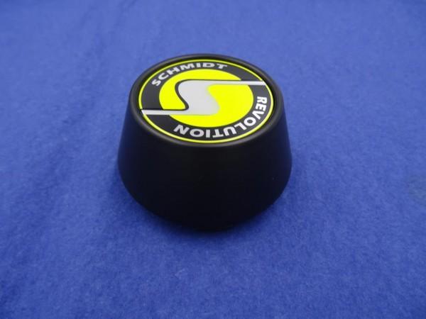 Schmidt Revolution Nabenkappe SC2 Satin Black-Gelb