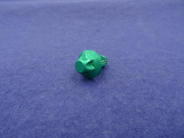 *Außentorx Zierstopfen Alu Grün elox. 6mm Schaft 14mm Kopf