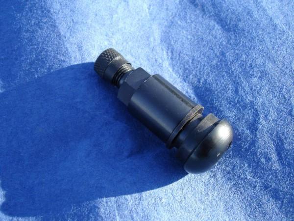 Metall Ventil 11mm schwarz matt Alu Eloxiert sehr leicht! Nur 11 Gramm