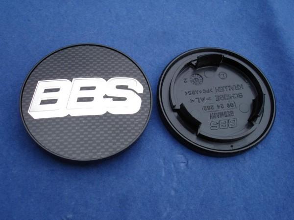 BBS Emblem Carbon/Chrom 70mm 09.24.282 Nabenkappe, Symbolscheibe