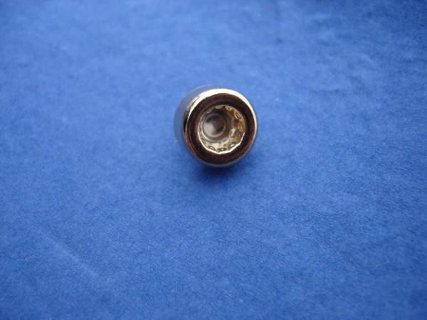 *Innenzwölfkant Zierstopfen 6mm Schaft 14mm Kopf vergoldet