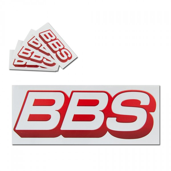 Original BBS Logo Aufkleber Set Sticker Felgenaufkleber 4 St. 6x2cm + 2 St.20,5x7cm