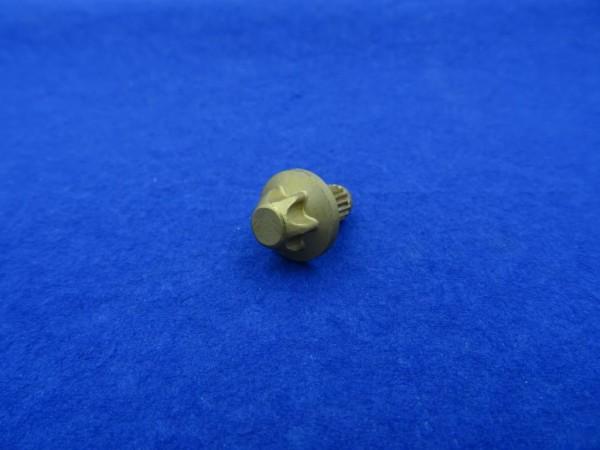 *Außentorx Zierstopfen Alu Gold elox. 6mm Schaft 14mm Kopf