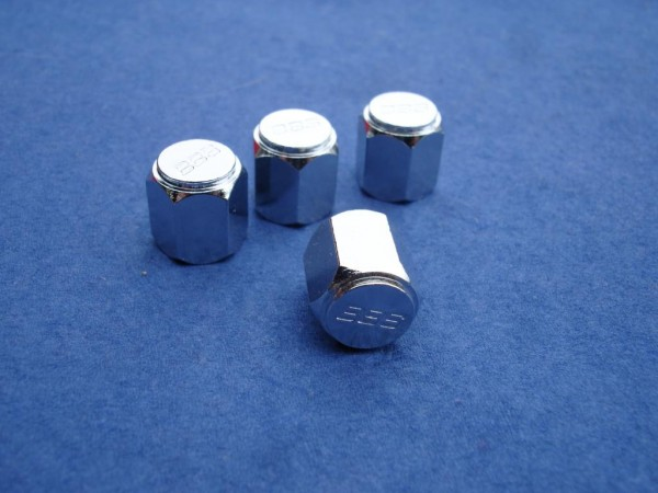 4er Set BBS Ventilkappe sechskant Metall 09.15.023