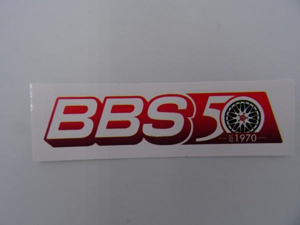 BBS Aufkleber rot/weiß EST.1970 Größe ca. 68x17mm