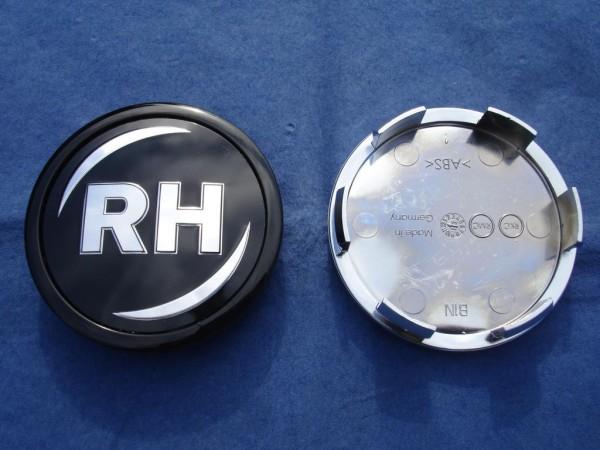 RH Nabenkappe 45102 Schwarz + schwarzer Rand 60mm