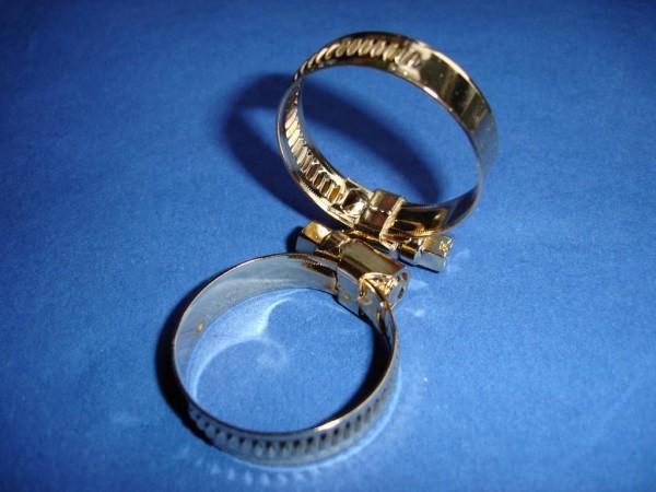 Schlauchschelle 20-32 mm Edelstahl vergoldet