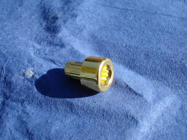 *Innenzwölfkant Zierstopfen 6mm Schaft 11mm Kopf Gold