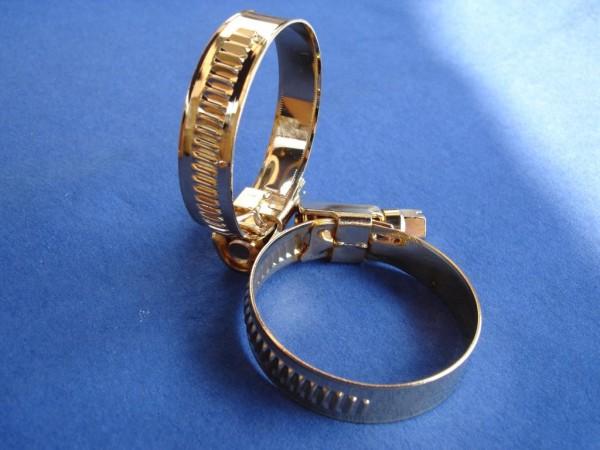 Schlauchschelle 23-35 mm Edelstahl vergoldet