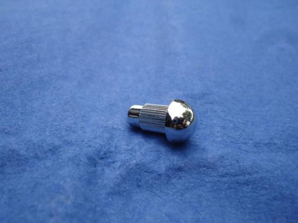 *Rundkopf Zierstopfen 6mm Schaft 10mm Kopf verchromt