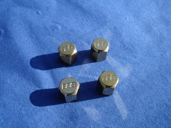 4er Set BBS Ventilkappe 6kant vergoldet 09.15.023