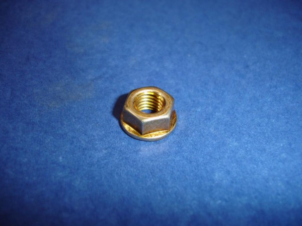 80er Set *Mutter M7 6 kant Stahl gelb verzinkt Felgenmutter