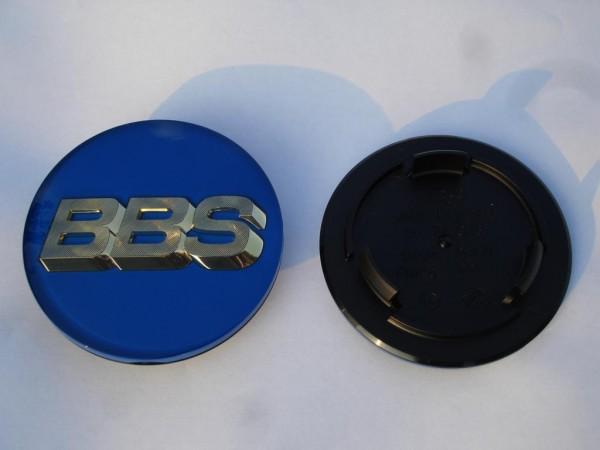 BBS Emblem Blau/Gold 70mm 3D 56.24.206 Nabenkappe, Symbolscheibe