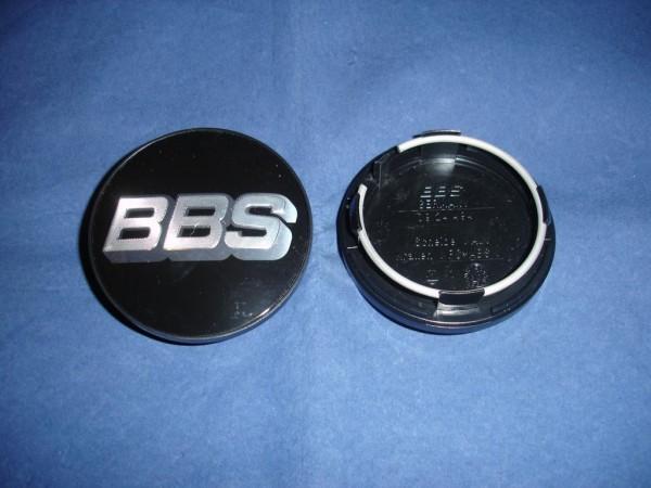 4er Set BBS Emblem Schwarz/Chrom 70mm 09.24.494 Nabenkappe, Symbolscheibe 10023603