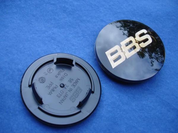 4er Set BBS Emblem Schwarz/Gold 70mm 3D 56.24.073 Nabenkappe, Symbolscheibe