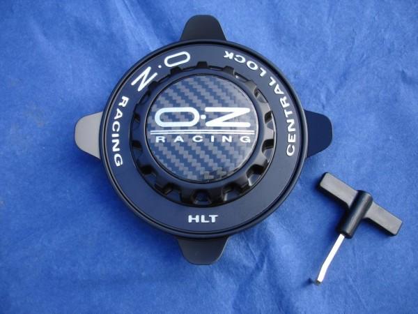 OZ Felgendeckel sw + schwarzer Ring 81210329 55mm Formular HLT Zentralverschluss Optik Centerlock M6