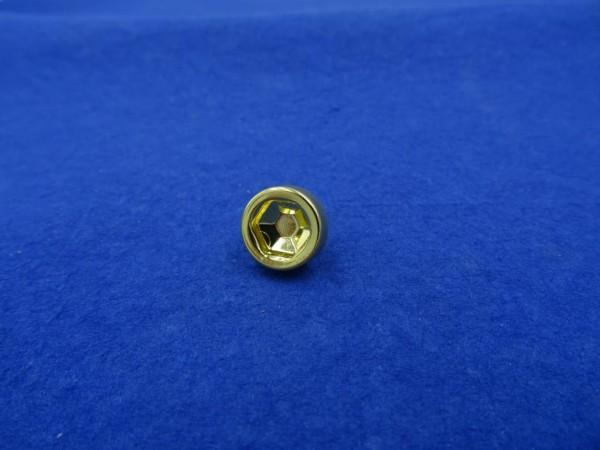 *6-kant Zierstopfen 7mm Schaft 13mm Kopf Gold