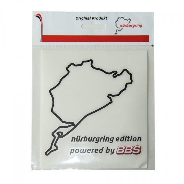 Original BBS Aufkleber Nürburgring mit transparentem Hintergrund Größe 12cm