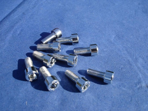 Innensechskant Schraube M5x12 Edelstahl verchromt
