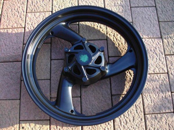 Motorradfelge Pulverbeschichtet ★ RAL 9005 seidenmatt ★ Chrom-Store