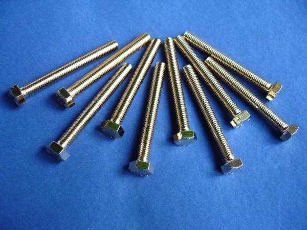 Sechskantschraube M8x70 Edelstahl vergoldet