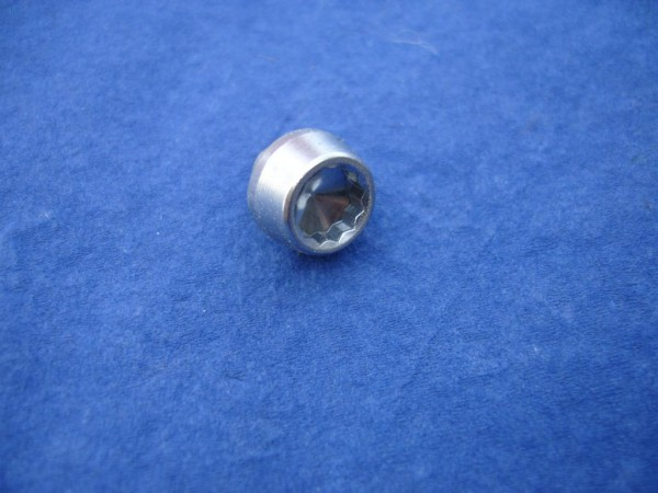 *Innenzwöftkant Zierstopfen 6mm Schaft 12mm Kopf Edelstahl blank