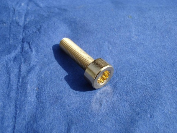 * Felgenschraube M7x24 innen 12k Edelstahl vergoldet neues Design