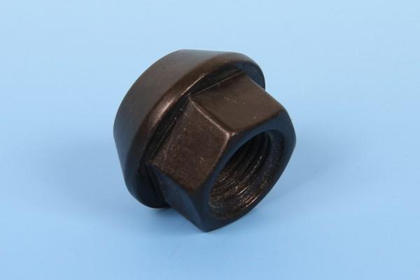 Radmutter offen Kegelbund M12x1,25x16,5 SW17 schwarz
