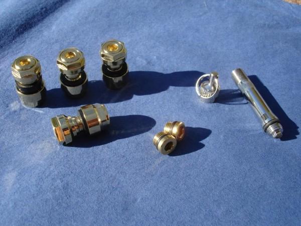 Unsichtbare Metallventile 8,3 mm 1 VPE vergoldet