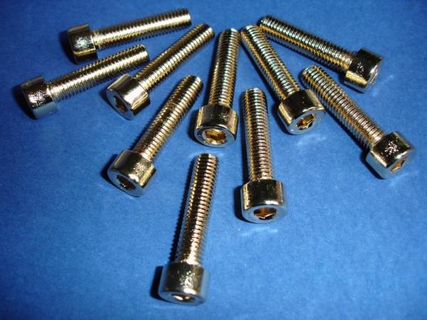 Innensechskant Schraube M8x35 Edelstahl vergoldet