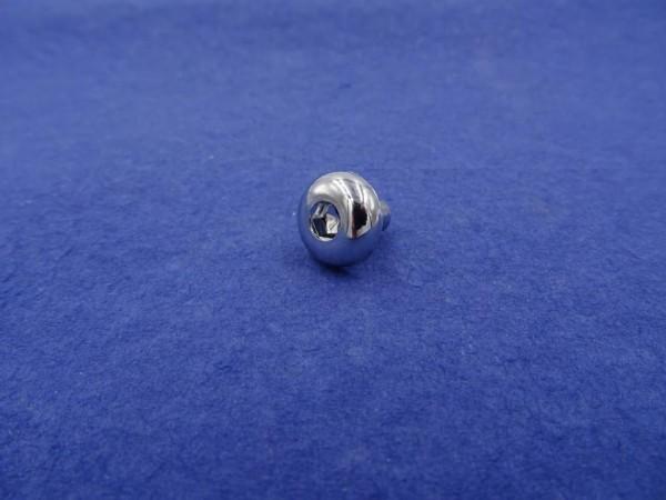 *6-kant Zierstopfen 6mm Schaft 14mm Flachkopf chrom