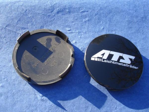 ATS Nabenkappe N32 schwarz glänzend Logo silber
