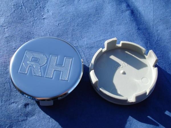 4er Set RH Nabenkappe 45159 Edelstahl mit Gravur 53mm