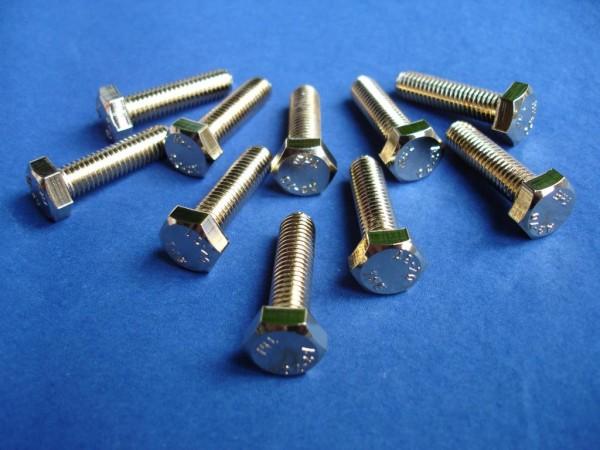 Flachkopfschraube mit Innensechskant M5x16 CHROM verchromt M5 Schraube Sechskant