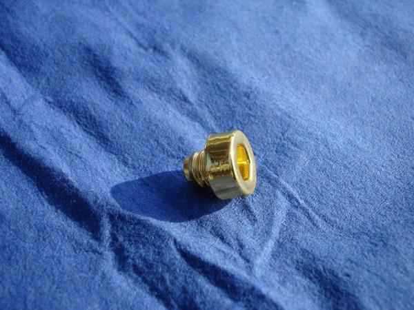 *6-kant Zierstopfen 6mm Schaft 10mm Kopf Gold