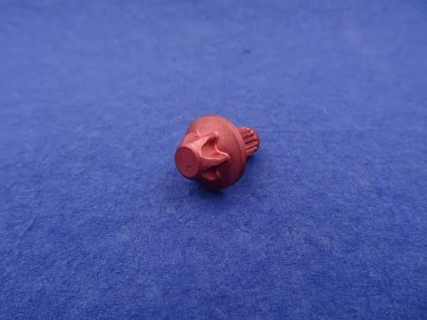 *Außentorx Zierstopfen Alu Rot elox. 6mm Schaft 14mm Kopf