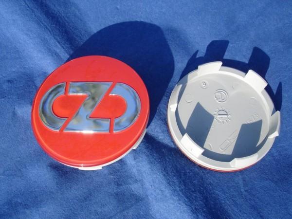 4er Set OZ Racing Nabenkappe Anniversary 45 Rot 81310593