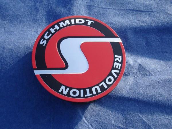 4er Set Schmidt Revolution flache Nabenkappe SC5 ROT