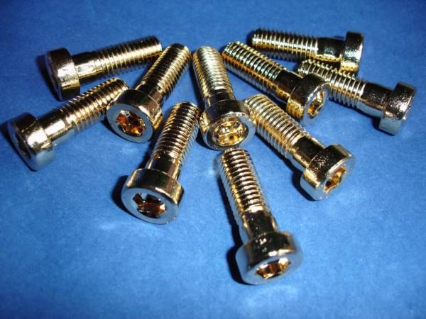 Innensechskant Schraube M10x30 Edelstahl vergoldet