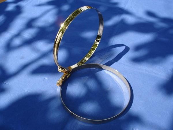 Schlauchschelle 110-130 mm Edelstahl vergoldet