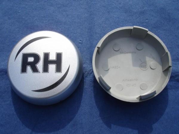 RH Nabenkappe 45162 Silber + schwarz Schrift 62mm