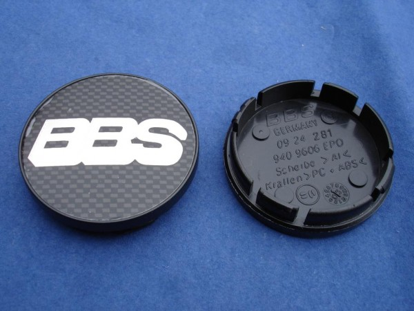 BBS Emblem Carbon/Chrom 56mm 09.24.281 Nabenkappe, Symbolscheibe CC-R