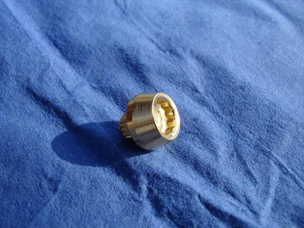 *Innenzwöftkant Zierstopfen 6mm Schaft 12mm Kopf Edelstahl vergoldet