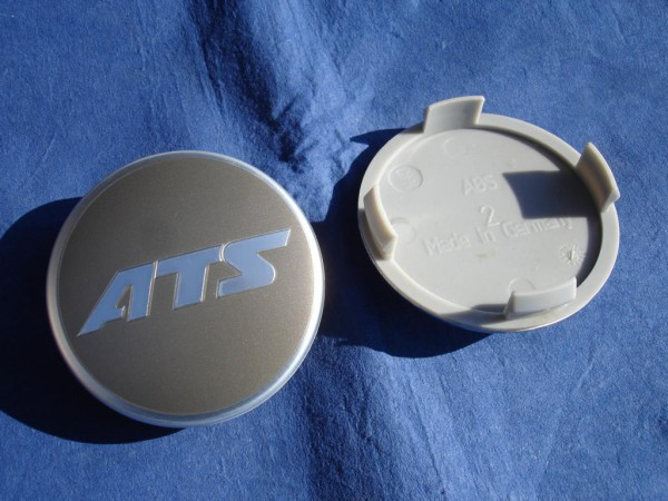 ATS Nabenkappe N40 grau glänzend + Metall-Linse