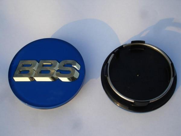 4er Set BBS Emblem Blau/Gold 70mm 3D 56.24.132 Nabenkappe, Symbolscheibe