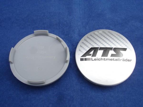 ATS Nabenkappe N32 Carbon Silber schwarze Schrift