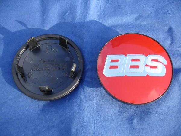 4er Set BBS Emblem Rot/Chrom 76,5mm 10017111 Nürburgring Edition CH-R, SR, FI