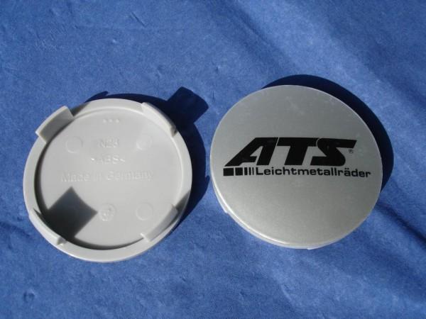 ATS Nabenkappe N23 silber ATS Logo schwarz